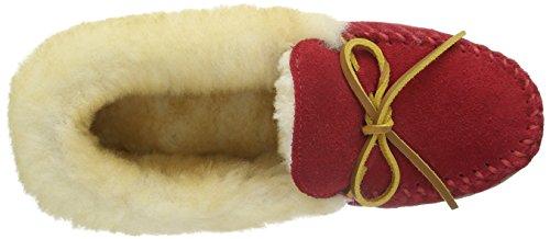 Minnetonka - Alpine Sheepskin Moc, Pantofole Donna Rosso (RedRed)