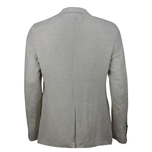 Pantalon en lin mélange de coton Coupe Slim Smart Casual Blazer Vintage italien pour femme pour femme 4couleurs beige clair