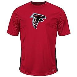 NFL Atlanta Falcons Short Sleeve Synthetic Tee, 3X Tall, Red