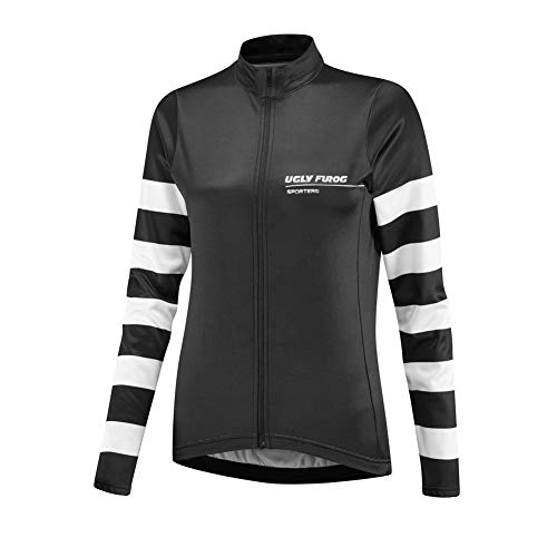 Uglyfrog Neue Bike Wear Damen Atmungsaktiv-Langarm-Rennradtrikot Rennrad Trikot, Gore Selected Fabrics, Power Lady Great Gifts Fahrradbekleidung -