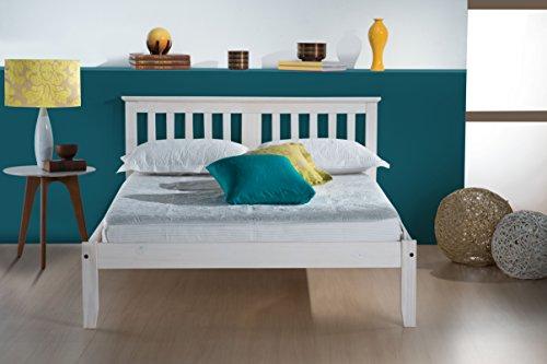 Birlea Salvador 4 feet Wooden Bed - Small Double, White