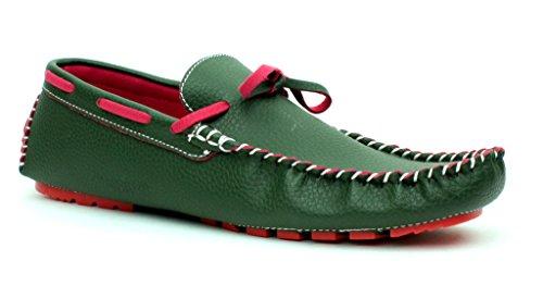 NUOVO DA UOMO MOCASSINI SLIP ON CASUAL Driving scarpe pizzo mocassini ITALIANA DESIGN TAGLIE Kaki