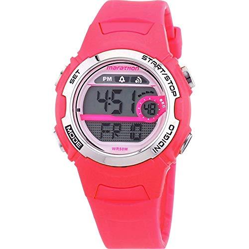 Timex Mädchen-Armbanduhr Marathon By Timex Digital Quarz Plastik T5K771 (Uhren Timex Kinder)