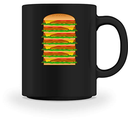 Lustiges Riesen Burger Hot Dog Döner Pizza Fast Food Mit Soße Design - Tasse