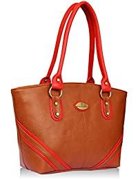 Fantosy Tan And Red Women Shoulder Bag (FNB-733) (Tan And Red)