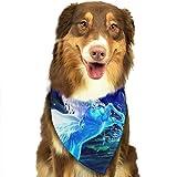 rwwrewre Hundehalsbänder Hunde Halstuch,Blue Unicorn Scarf Pet Fantasy Fashion Scarfs,Soft Head Scarfs Accessories Pet bib Pet Supplies