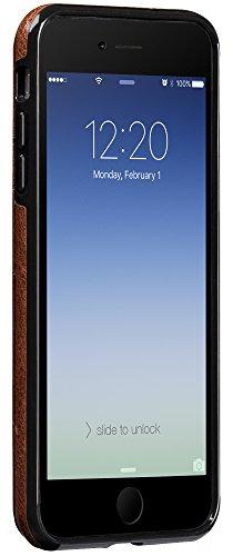 Sena Lugano Schutzhülle für Apple iPhone 7Plus–cognac-parent schwarz
