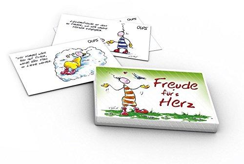 """Oups Kärtchenbox: """"Freude für´s Herz"""""""