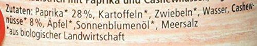 Alnatura Bio Brotaufstrich Paprika-Cashew, vegan, 6er Pack (6 x 125 g) - 3