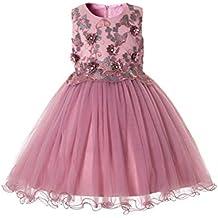 dd5b20c05 CIELARKO Vestidos para Niñas de Princesa de Fiesta de Verano con Flores Tul