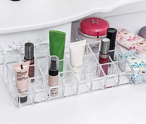 Hivexagon 3 Reihiges 24 Platz Acrylic Lippenstift Organizer Kosmetik Organizer Display Ständer zum Organisieren von Lippenstift Maskara und Nagellack BT062