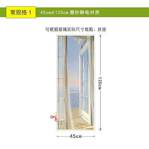 Glasaufkleber-Scrub Zurück Schlafzimmer Wasserfeste Sonnenschutzmittel Transparent Opak Glas Elektrostatische Aufkleber, Breite 45 Cm Höhe 120 Cm