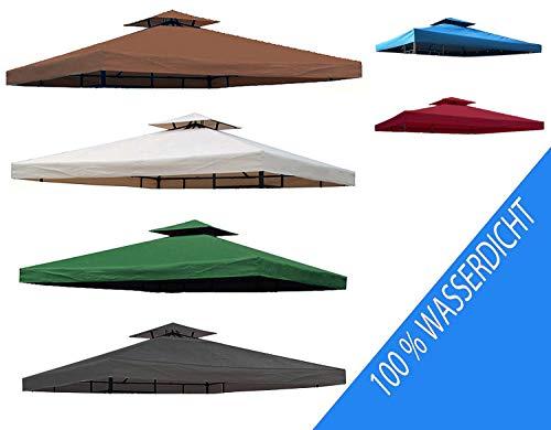 Toskana-streifen (habeig Ersatzdach PVC Beschichtung Pavillondach Wasserdicht Pavillon knapp 3x3m NEU (Beige))