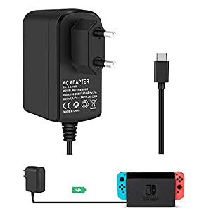 Switch AC Adapter Support TV-Modus KINGTOP Reiseladegerät USB Typ C-Kabel Für Console Dock Docking Station und Nintendo…