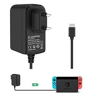 Switch AC Adapter Support TV-Modus KINGTOP Reiseladegerät USB Typ C-Kabel Für Console Dock Docking Station und Nintendo Switch Controller