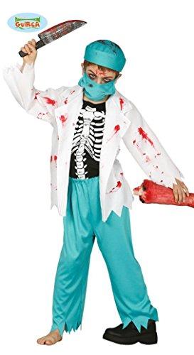 KINDERKOSTÜM - ARZT - Größe 122-132 cm ( 7-9 Jahre ), Zombie Untoter Monster Horror Doktor Chirurg (Kostüm Kinder Zombie Doktor)