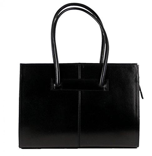 Made in italy sac de sac à main pour femme en cuir véritable noir iT