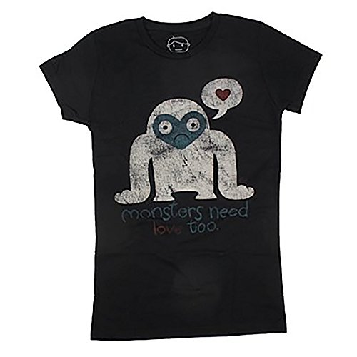 Goodie Two Sleeves Shirt MONSTER NEEDS LOVE TEE black Black