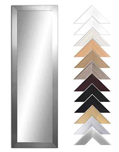 Ramix Spiegel mit Rahmen, 12 Farben Rahmen, Handgefertigte, breiter fester Rahmen, Stabiler Rückwand, Rahmenleiste: 60 mm breit und 20 mm hoch, 28 verschiedene Größen (Aluminium, Breite 80 cm x Höhe 40 cm) (Spiegel Rahmen Mit)