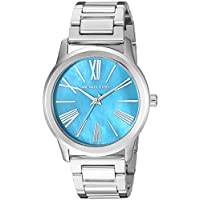 Michael Kors Hartman Women's Turquoise Dial Stainless Steel Band Watch - Mk3519, Silver Band, Analog Display