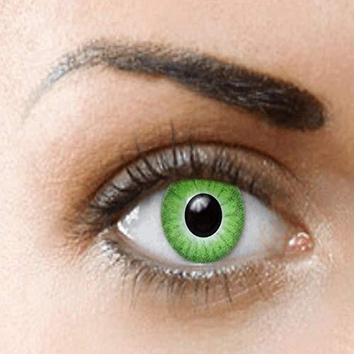 PHANTASY Eyes® Farbige grün Kontaktlinsen, Ohne Stärke (Grüne elfe) Dämonenaugen/Hulk/Lunatic, Jahres Linsen, 1 Paar crazy fun Contact linsen + - Funky Elfen Kostüm
