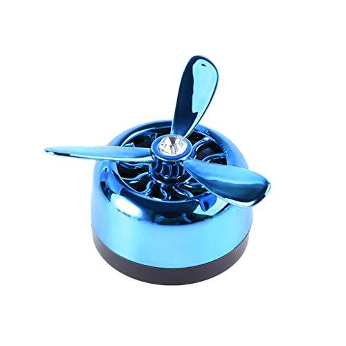 yuaierchen - Deodorante per Auto con Clip per Bocchetta dell'Aria condizionata, 3 eliche, Clip per Bocchetta dell'Aria, Decorazione per Auto Blu