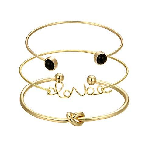 Epinki Damen Armband Love Knot Form Freundschaftsarmbänder Armbänder Gold