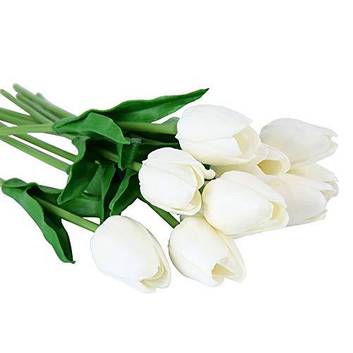 Speedmar UK Mode Wohnkultur Künstliche Tulpe Blumen, 10 STÜCKE Gefälschte Künstliche Seide Tulpen Flores Artificiales Bouquets Partei Künstliche Blumen (Farbe : Pink)
