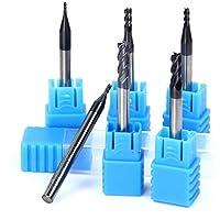 Latinaric 6 piezas CNC Flauta Molino Cortador Broca Herramienta De Taladro 1mm 1.5mm 2mm 2.5mm 3.5mm 4mm Conjunto de herramientas