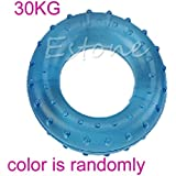 TOP 30KG/40KG Palm Finger Grip Muscle Strength Rubber Ring Fitness Power Exercise Randomly Color