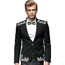 ee26d802ccf06 FANZHUAN Blazer Slim Fit Hombre Floral Fashion Lujo Traje Hombre Elegante