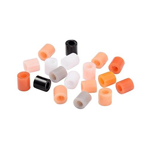PandaHall Tube PE DIY Melty Beads Schmelzperlen Minen, Mischfarbe, 5x5mm, Loch: 3mm über 1000 stücke / 60g -