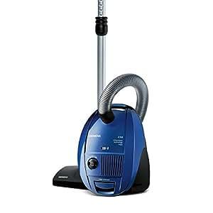 Siemens VSZ31455 Bodenstaubsauger EEK C (CompressorTechnology, 4 L, HEPA Hygienefilter) blau
