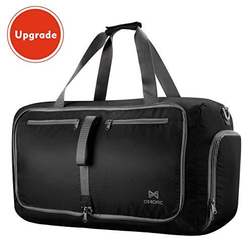 Faltbare Sporttasche, OMORC Fitnesstasche 60L Wasserdicht Duffle Reisetasche Große für Sport Gym Urlaub für Herren und Frauen