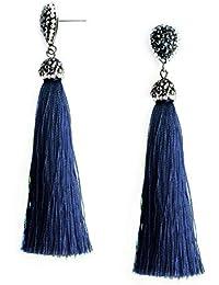 2c81d8b05 Tassel Tear Drop Stud Earrings Stainless Steel Rhinestone Fringe Dangle  Earrings Vintage Jewellery Gifts for Women