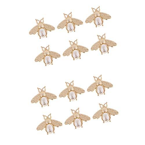 Hellery 12 Stücke Mode Frauen Gold Ton Handtasche Tasche Zubehör Geldbörse Turn Lock Bee Form Karabiner/Verschluss Für Tasche DIY Schnalle - Gold-ton-hardware Lock