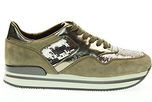 HOGAN donna sneakers basse HXW2220N624DZ8003L H222 SPORTIVO XL Beige