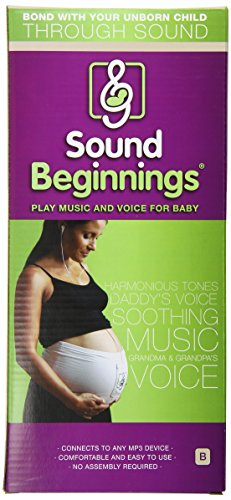 Sound Beginnings Belly Band The Best Way to Share Music with Baby in the Womb (Nude, Size B)