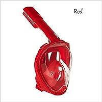 MáScara De Buceo De Silicona Traje Completo De Snorkeling Seco Gafas De NatacióN , red , l