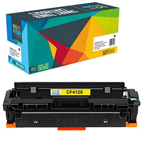Do it Wiser Cartucho compatibles con HP Color Laserjet Pro M477fnw Toner HP 410X M452dn M452dw M477fdn M477fdw M452nw M377 410A CF412X CF412A (Amarillo)
