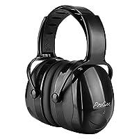 ProCase Orejera Anti Ruido, Protector Auditivo SNR 36 dB para Tirador con Diadema Ajustable Anti Torsión, Casco de Oído Profesional Cancelación de Ruido para Cazador -Negro
