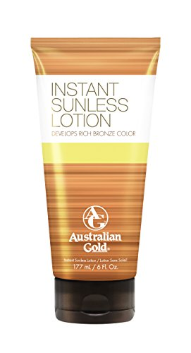Sunless Selbstbräuner Lotion (Australian Gold Instant Sunless Lotion, 1er Pack (1 x 177 ml))
