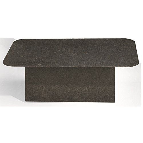 Studio 20 Etna Gartentisch 145 x 90 x 75 cm Outdoortisch rechteckig Granittisch Tischplatte Pearl...