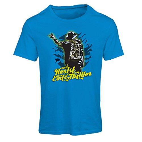 Frauen T-Shirt Vintage Band Kleidung, 80er Konzert Waren (Large Blau Mehrfarben)