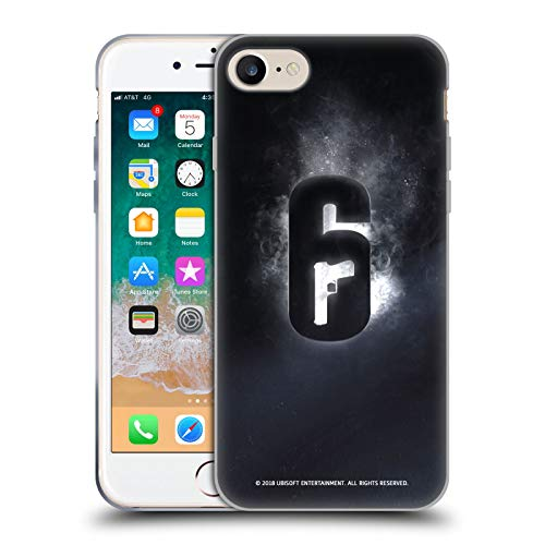 Head Case Designs Offizielle Tom Clancy's Rainbow Six Siege Gluehen Logo Soft Gel Huelle kompatibel mit iPhone 7 / iPhone 8 - Rainbow Hülle Case