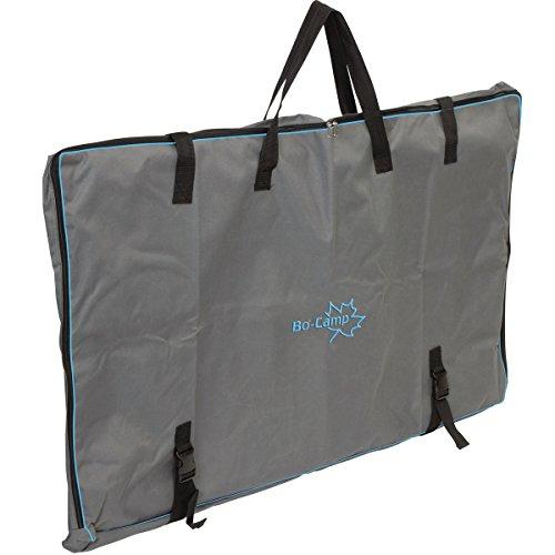 Tragetasche für einen Campingtisch, 120 x 80 x 8 cm, anthrazit: Aufbewahrungstasche für Tisch Schutzhülle Campingtisch Tasche