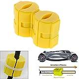 Happysdh 1 Paar Magnetisch Spritsparer Fuel Saver Auto Kraftfahrzeug Benzin Gas Einsparung Economiser Set Kunststoff