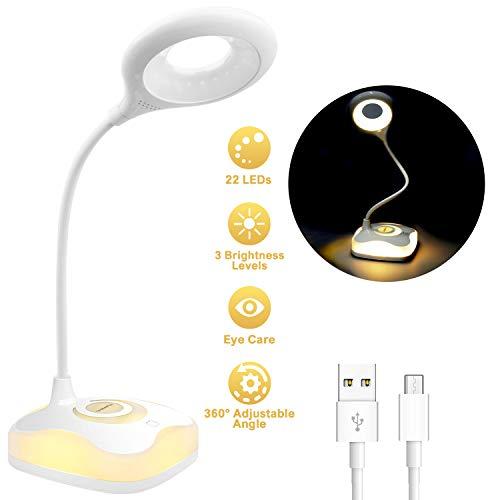 LeaderPro Lampe de Bureau à LED, Lampe de Lecture USB...