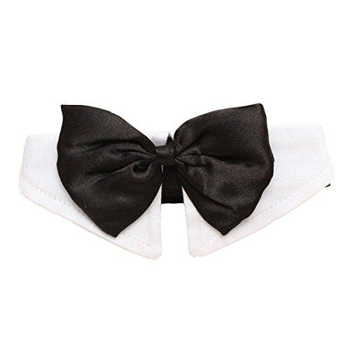 TOOGOO Einzigartige Einstellbare Hund Haustier Fliege Kragen Hochzeit Smoking Kostuem Krawatte Schwarz-weiss XL (Einzigartige Kostüm Für Hunde)