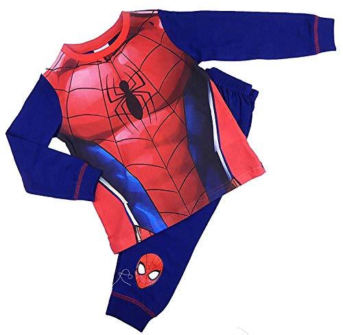 Childrens Character Jungen Spiderman Kostüm Pyjama Nachtwäsche 2-3 zu 7-8Y - Rot, 122-128
